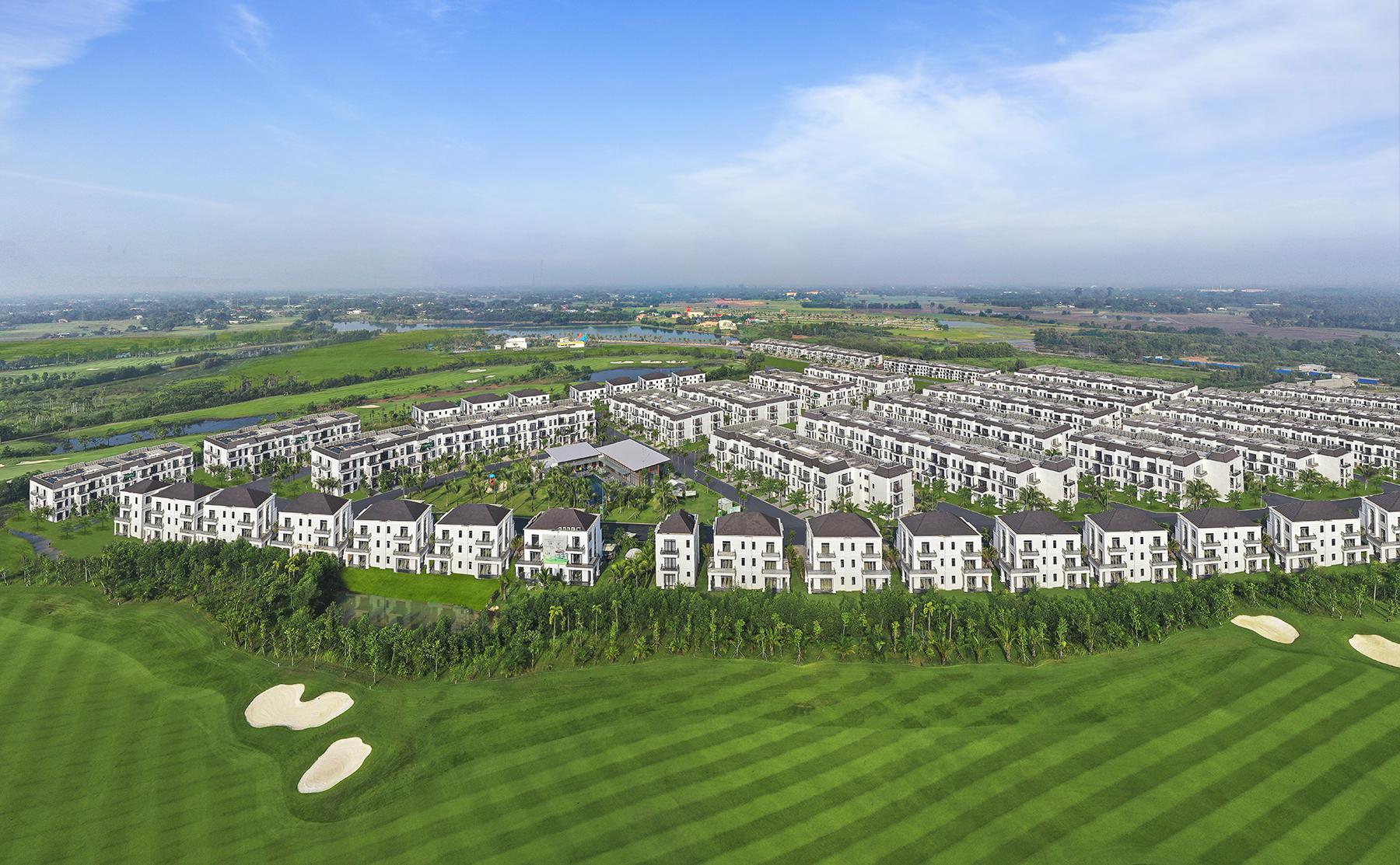 Biệt thự golf West Lakes mang đến làn gió mới cho bất động sản phía Nam. Ảnh phối cảnh: Trần Anh Group.
