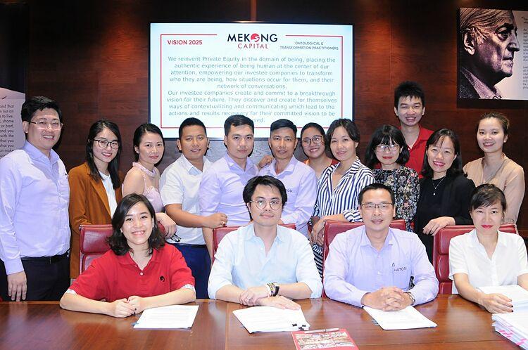 Buổi ký kết hợp đồng hợp tác giữa Mutosi Group và quỹ đầu tư Mekong Capital