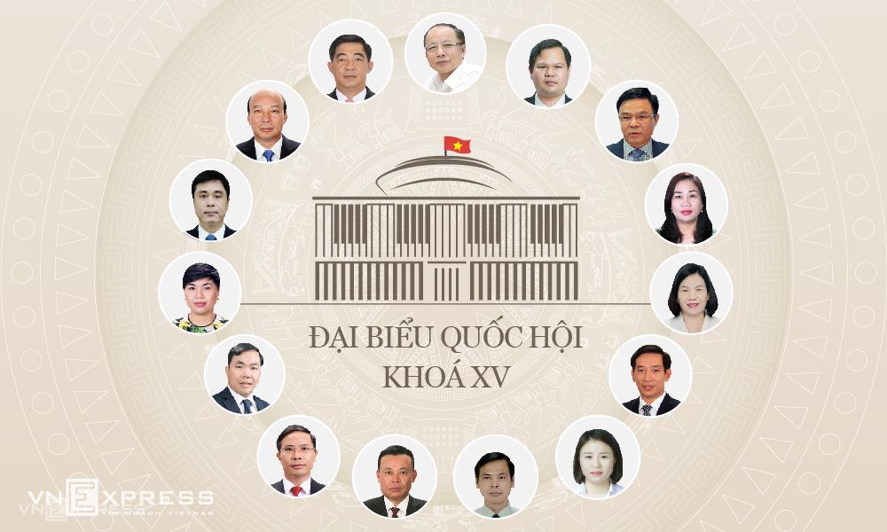 Những gương mặt doanh nhân trúng cử đại biểu Quốc hội khoá XV. Đồ hoạ: Tạ Lư