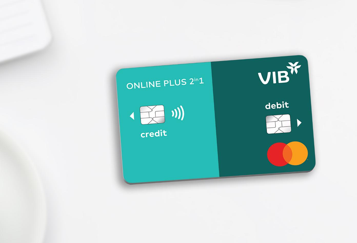 Thẻ thanh toán Online Plus 2in1 tặng chủ thẻ đến 21,6 triệu đồng dùng Grab. Ảnh: VIB.