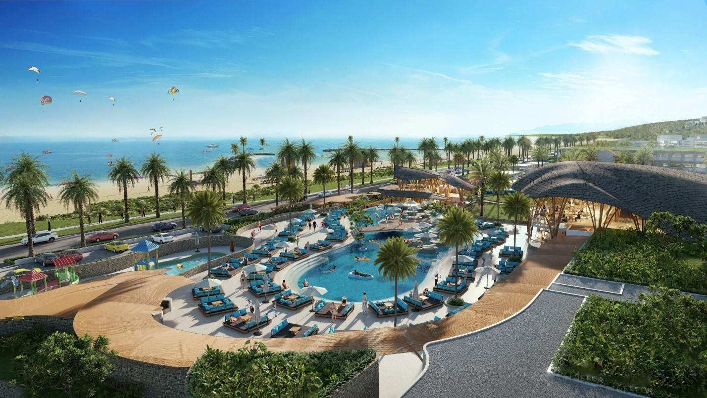 Phối cảnh CLB bãi biển tại Bikini Beach thuộc dự án NovaWorld Phan Thiet. Ảnh phối cảnh: Novaland.