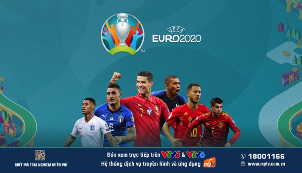 Người hâm mộ theo dõi UEFA EURO 2020 trên VTV3 và VTV6, hệ thống dịch vụ và ứng dụng MyTV