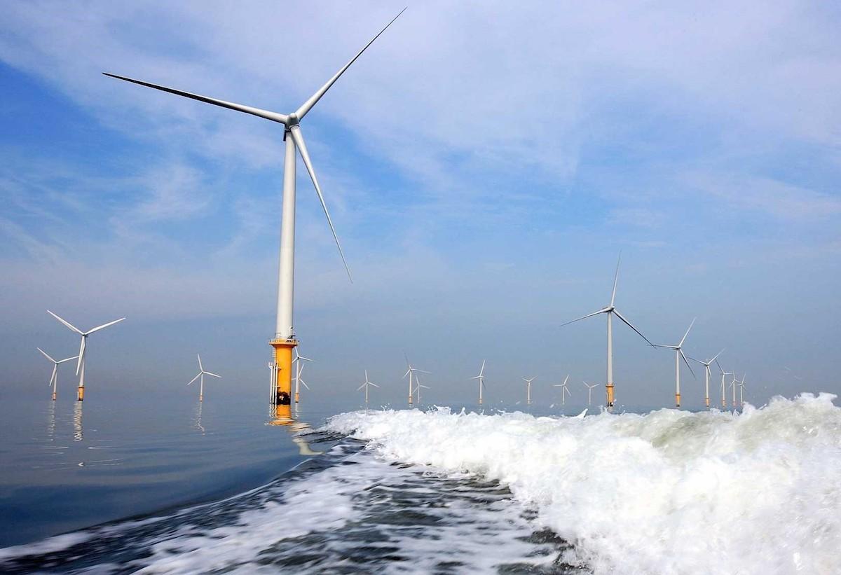 Mô phỏng một dự án điện gió ngoài khơi. Ảnh: GWEC