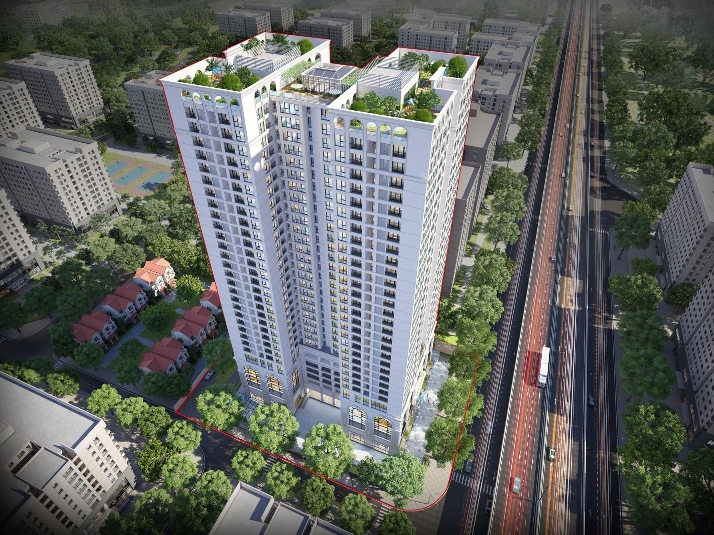 (Dự án Housinco Premium tọa lạc tại mặt đường Nguyễn Xiển – KĐT Tây Nam Kim Giang I)