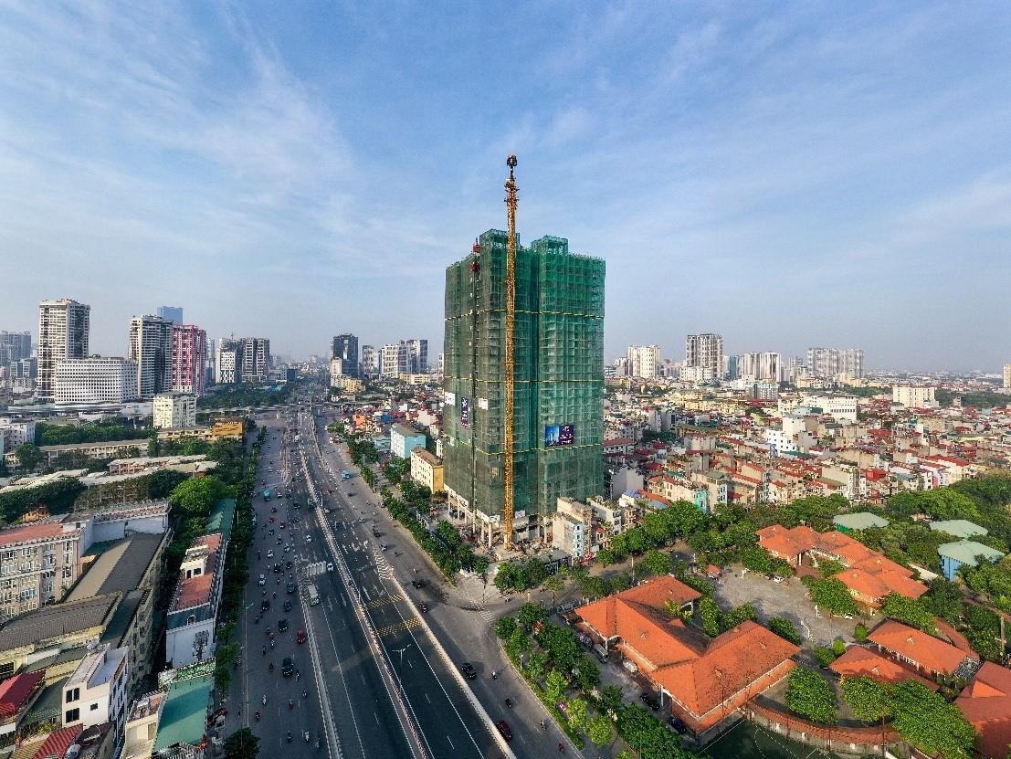 Dự án The Nine, số 9 Phạm Văn Đồng, Cầu Giấy, Hà Nội. Ảnh: GP.Invest.