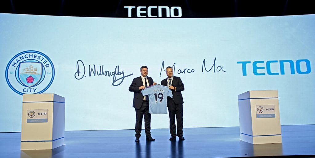 Manchester City là đối tác toàn cầu lâu năm của Tecno.