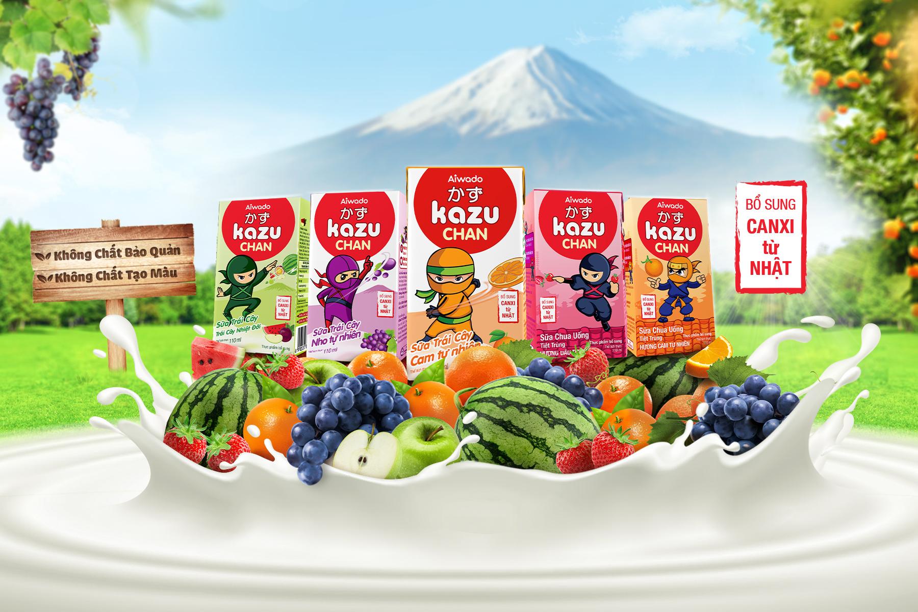 Sữa Trái Cây & Sữa Chua Uống Kazu Chan – Mát Lành Tự Nhiên, Vị Ngon Vô Đối