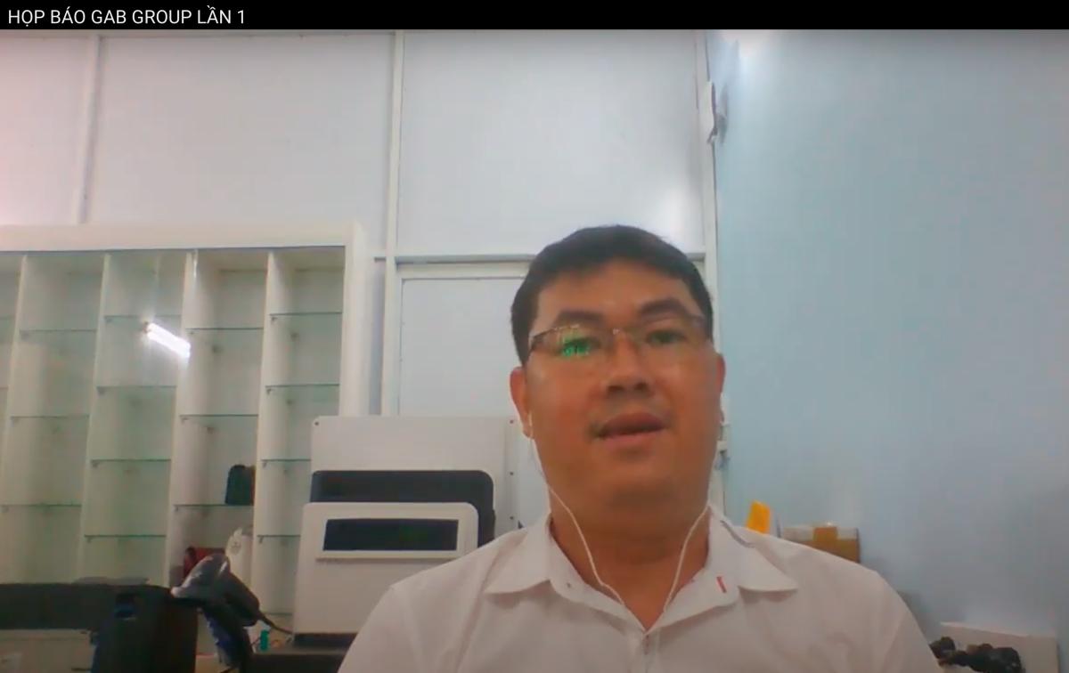Ông Nguyễn Vũ Quốc Anh trong buổi livestream trên YouTube hôm nay (15/6). Ảnh chụp màn hình.