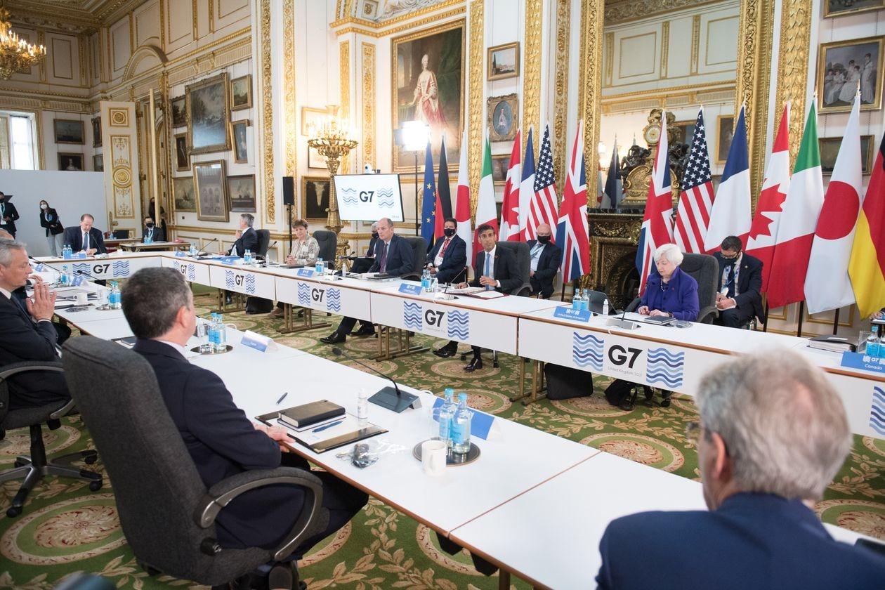 Bộ trưởng tài chính các nước G7 họp tại London, Anh vào đầu tháng 6. Ảnh: Reuters.