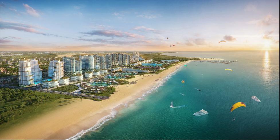 Phối cảnh tổ hợp đô thị nghỉ dưỡng và thể thao biển Thanh Long Bay (Hàm Thuận Nam, Bình Thuận) của Tập đoàn Nam Group. Ảnh: Nam Group.