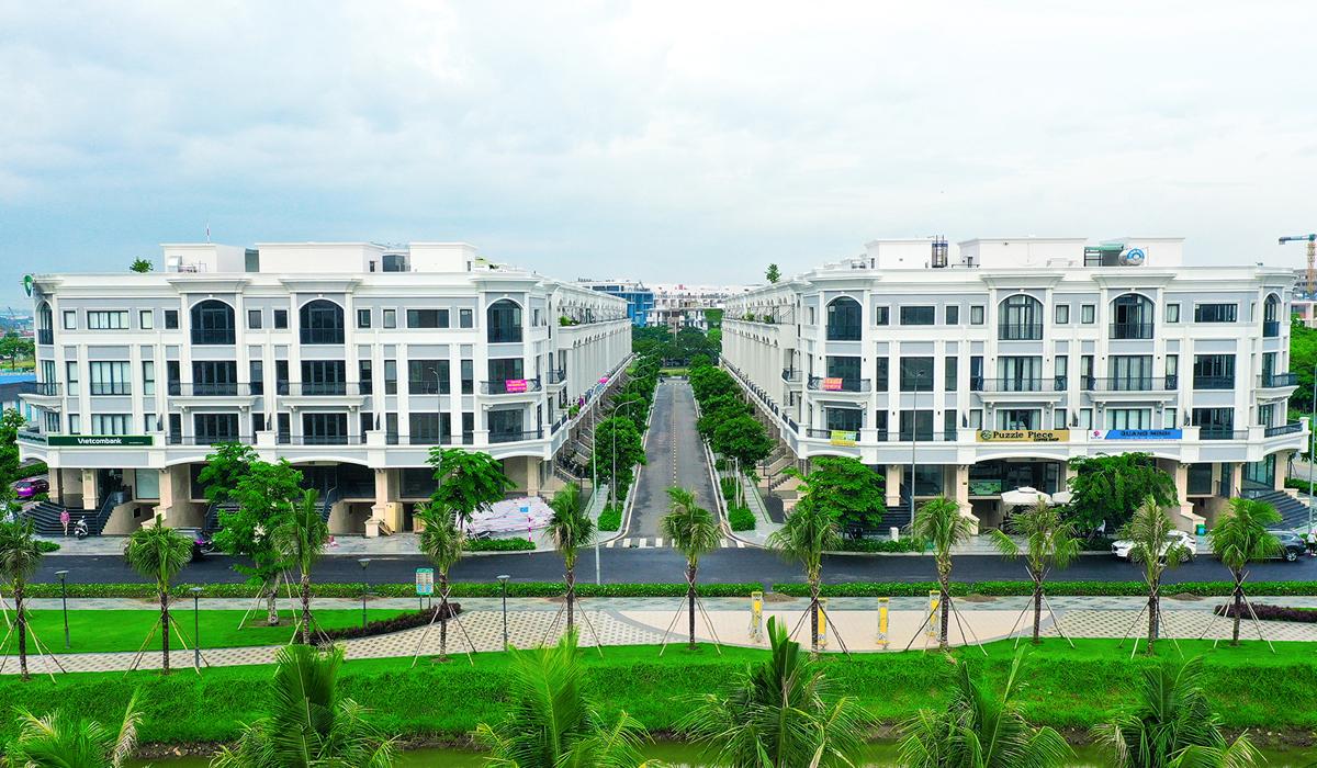 Một dự án shophouse xây sẵn tọa lạc tại TP Thủ Đức. Ảnh: Trung Tín.