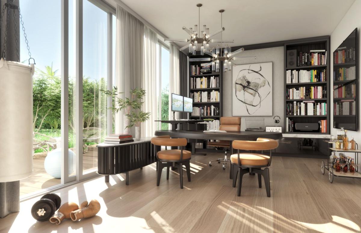 Không gian văn phòng cá nhân tại dự án The Ritz-Carlton Residences, Miami Beach. Ảnh: Lionheart Capital.