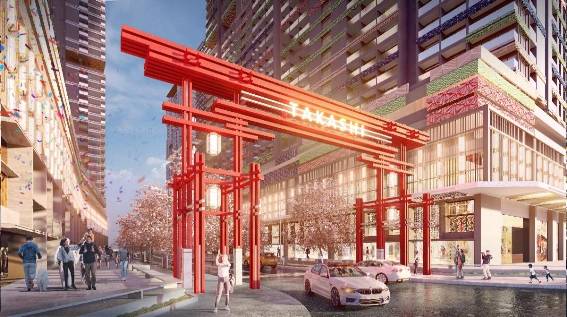 Cổng Torii mang phong cách Nhật Bản tại dự án. Ảnh phối cảnh: Tập đoàn Danh Khôi.