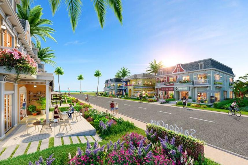 Shop villa Wonderland sẽ được giới thiệu trong sự kiện Ngôi nhà thứ 2 của lợi nhuận kép diễn ra vào 27/6 tại: https://www.facebook.com/NovaWorldHoTram.vn. Ảnh phối cảnh: Novaland.