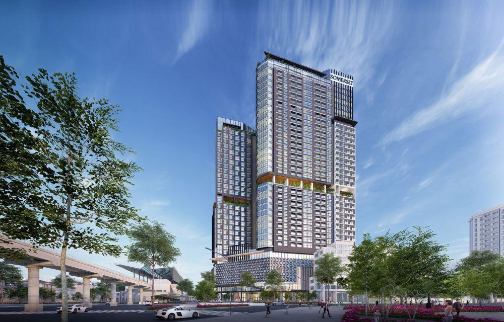 Phối cảnh dự án Somerset Metropolitan West Hanoi. Ảnh: CapitaLand.