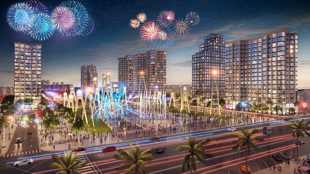 Phối cảnh khu đô thị phức hợp Sun Grand Boulevard tại Sầm Sơn.
