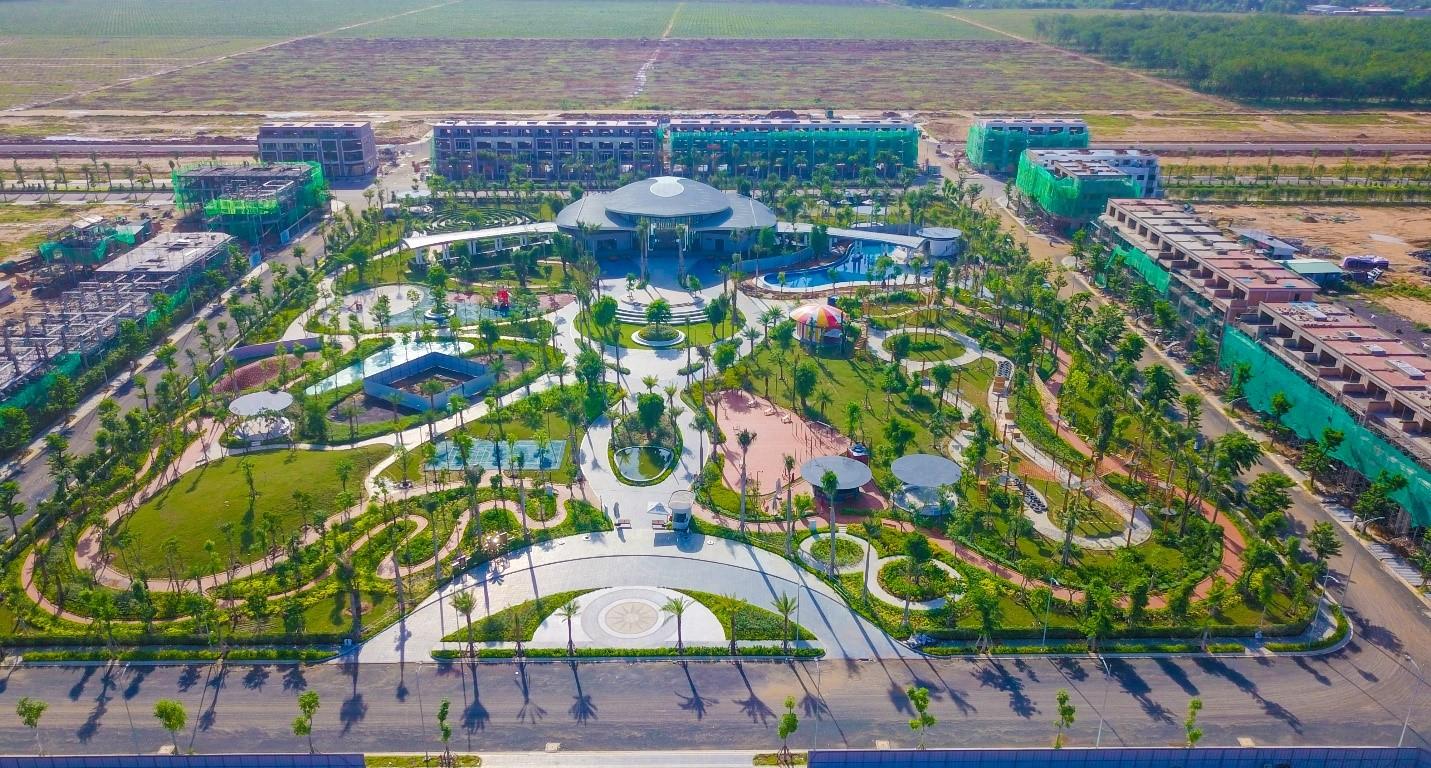 Sau gần một năm ra mắt, Gem Sky World trong quá trình hoàn thiện với định hướng trở thành khu đô thị đa chức năng tại Long Thành. Ảnh: Tập đoàn Đất Xanh.