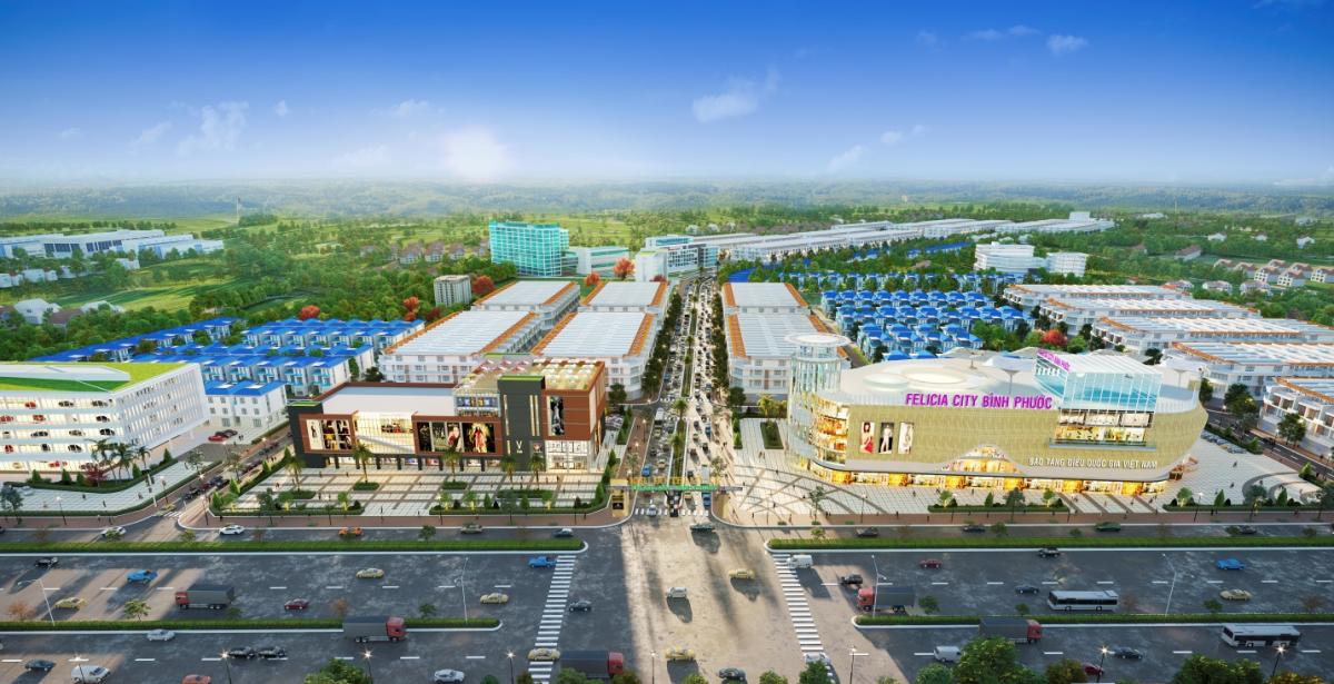 Phối cảnh dự án đại đô thị sinh thái Felicia City Bình Phước.