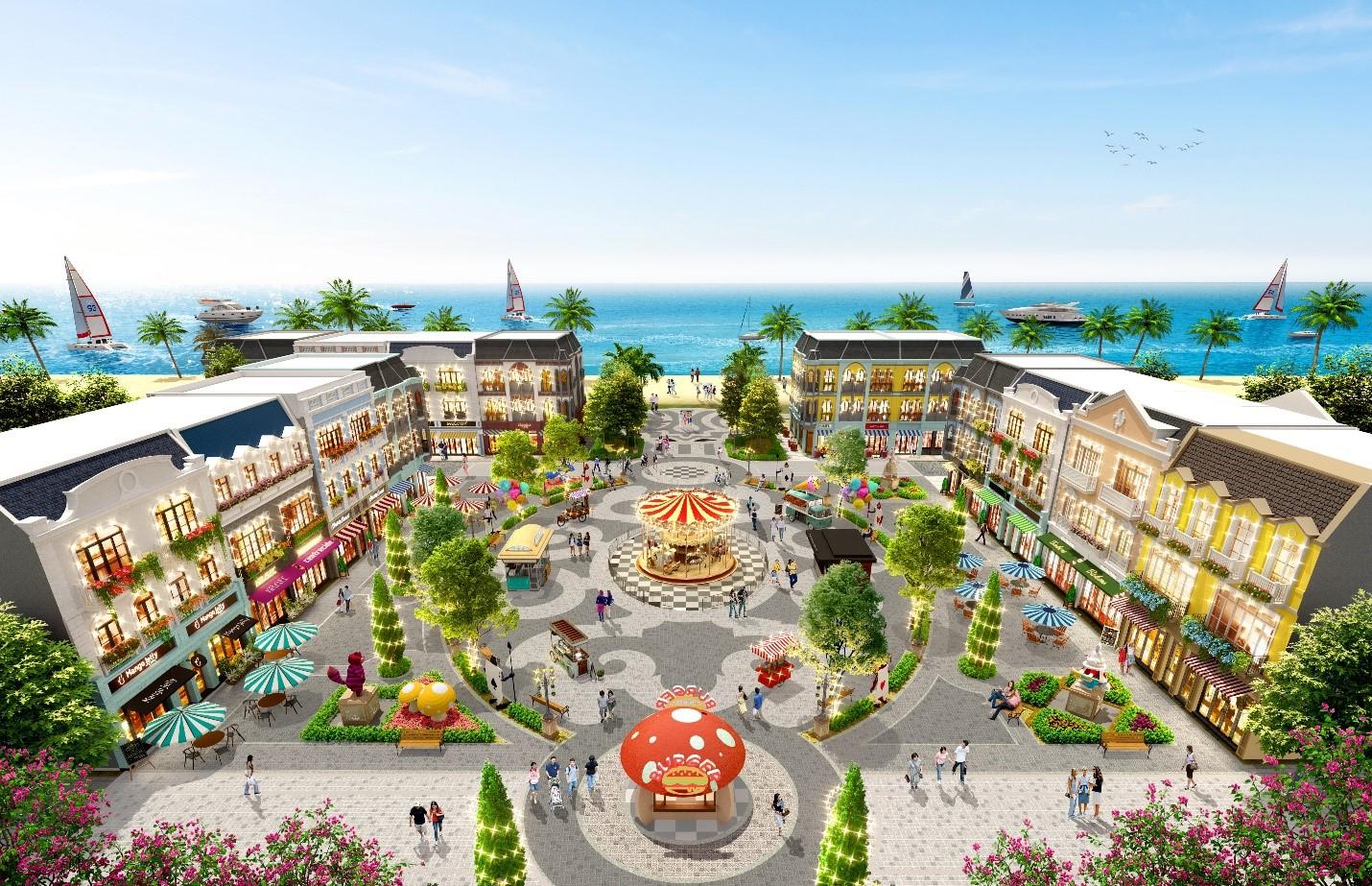 Shop villa lần đầu tiên xuất hiện tại tổ hợp du lịch nghỉ dưỡng giải trí NovaWorld Ho Tram. Ảnh phối cảnh: Novaland.