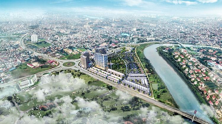 Toàn cảnh dự án The Minato Residence nhìn từ trên cao.