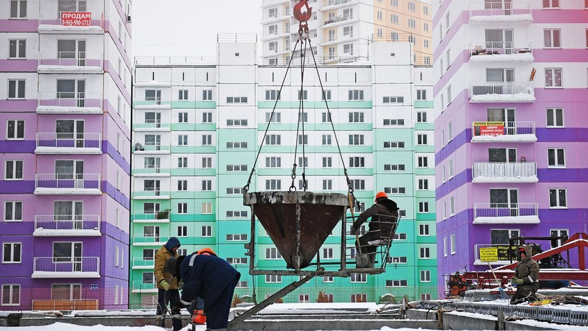Khu dân cư phức hợp mới ở Novosibirsk. Ảnh: Sputnik.