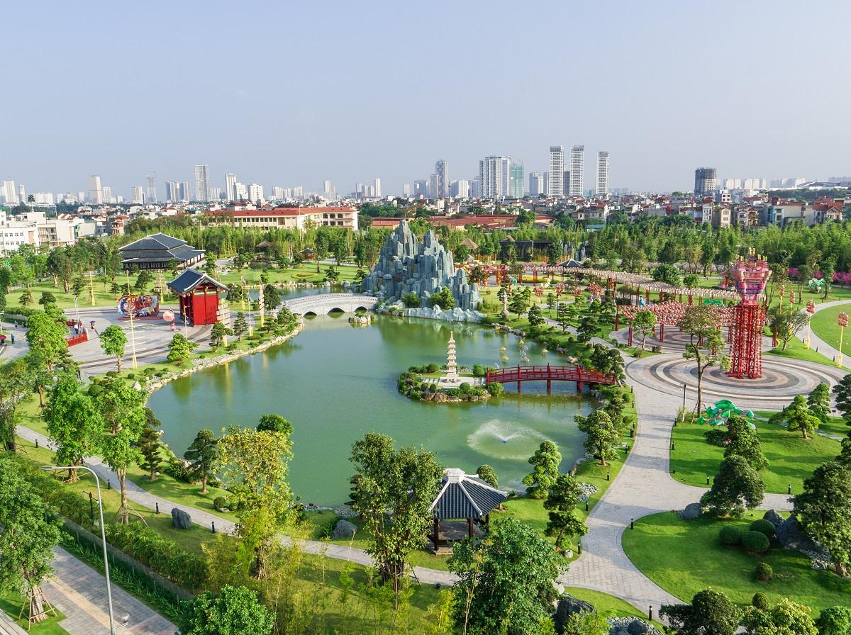 Công viên Nhật Bản Zen Park tại Vinhomes Smart City. Ảnh: Vinhomes.