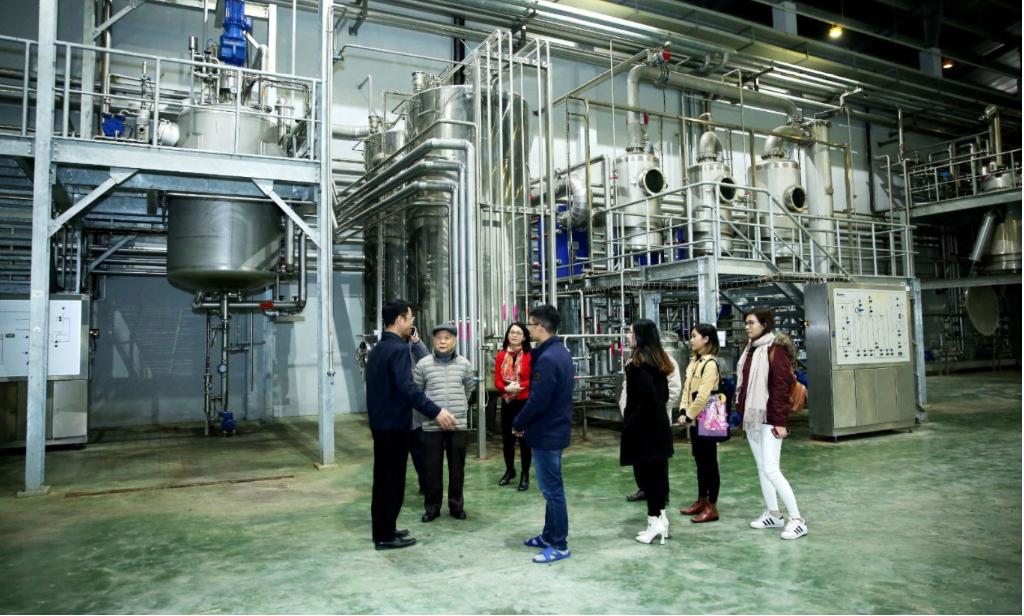 Giáo sư, tiến sĩ Đào Văn Phan; Phó giáo sư, tiến sĩ Nguyễn Thượng Dong và các khách tới thăm nhà máy Anvy vào 24/12/2020.