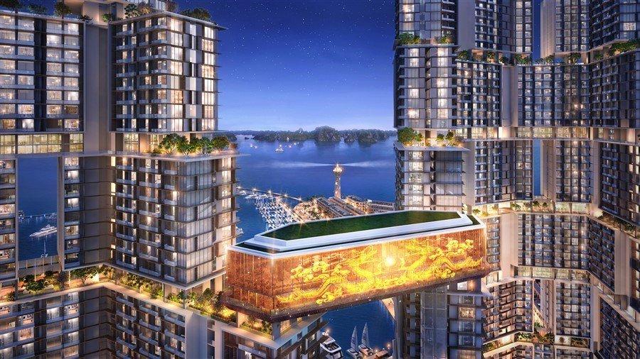 Câu lạc bộ du thuyền Marina Club kết nối 2 toà tháp.