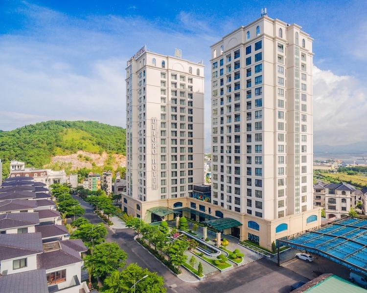 Toà nhà căn hộ chung cư và toà nhà khách sạn tại dự án.