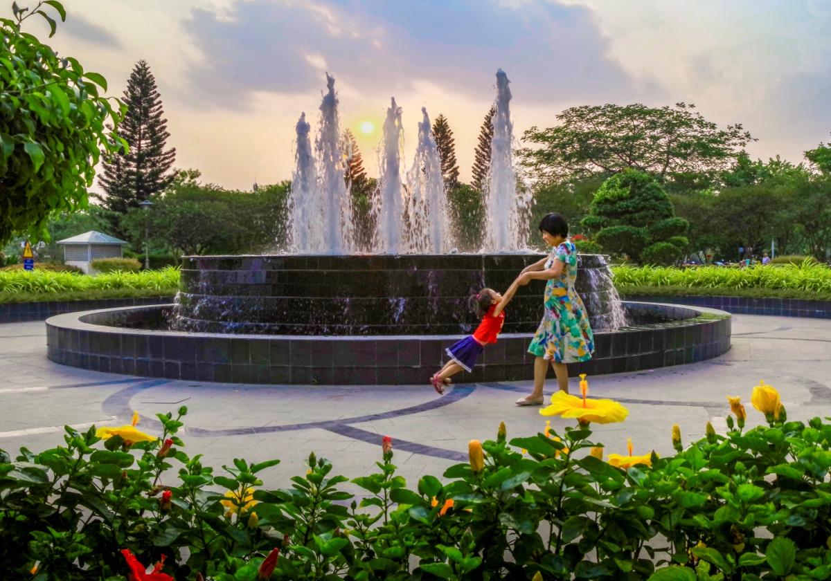 Không gian sống xanh tại Ciputra Hanoi.