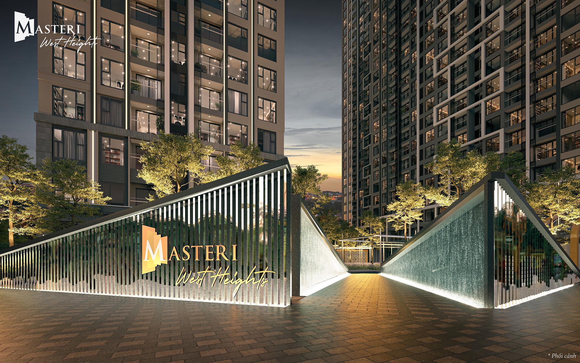 Dự án căn hộ cao cấp - Masteri West Heights mới ra mắt tại phía Tây Hà Nội. Ảnh phối cảnh: Masterise Homes.