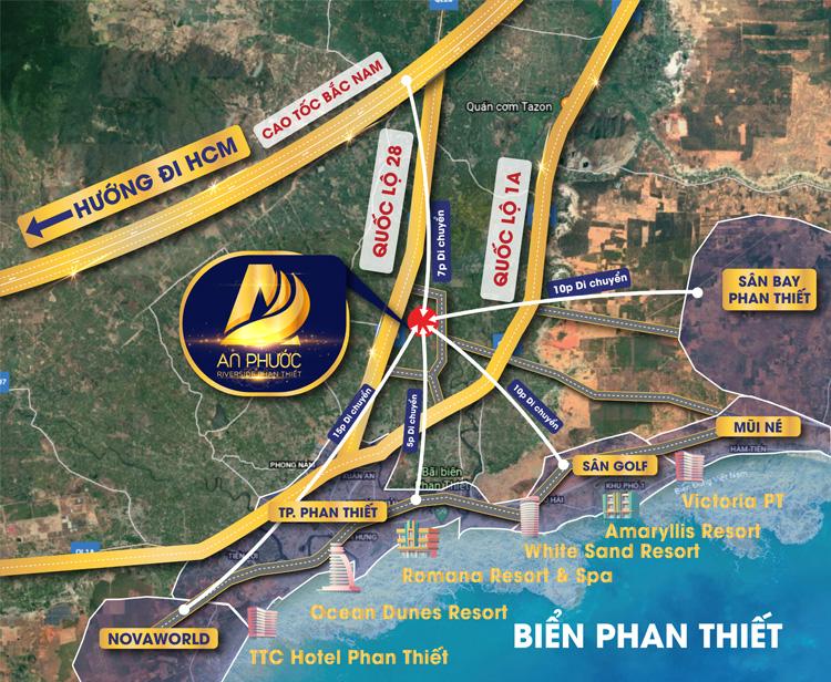 Vị trí khu dân cư An Phước Riverside Phan Thiết