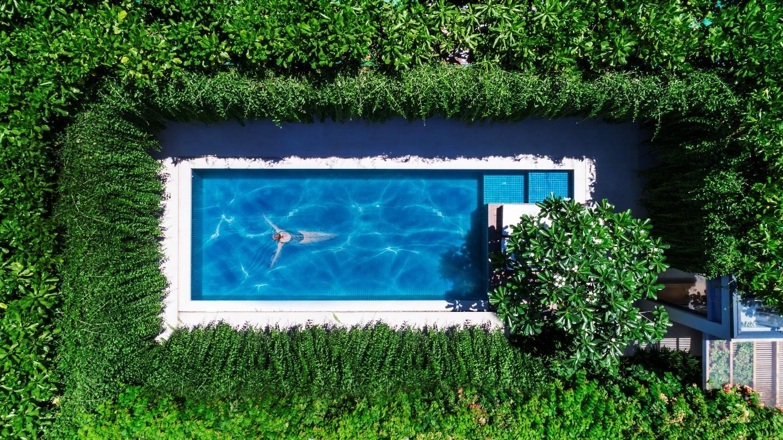 Wyndham Phú Quốc sở hữu kiến trúc go green nổi bật và khác biệt với những mảng xanh rộng lớn theo phong cách khu vườn nhiệt đới. Ảnh: Nam Group.