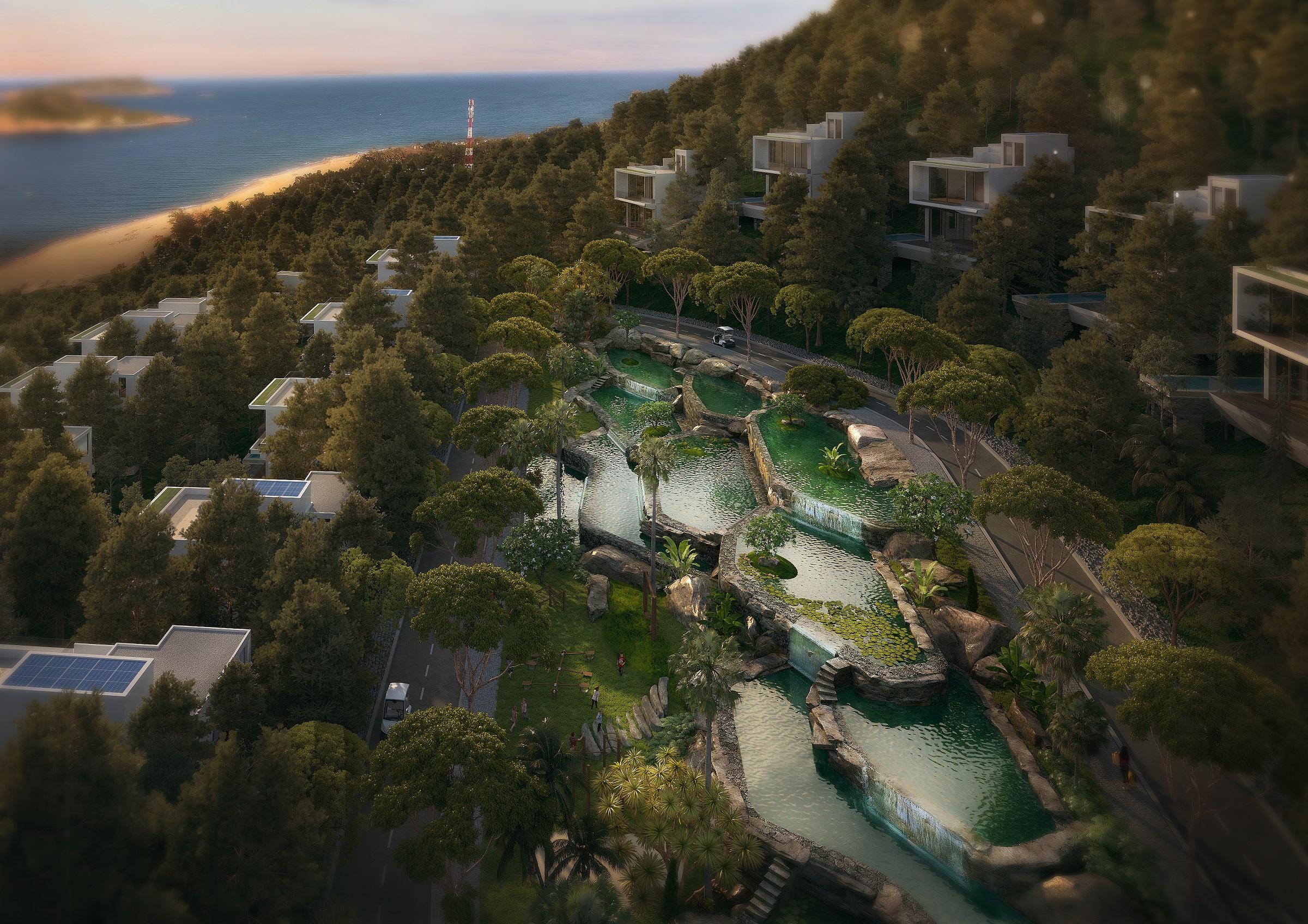 Dự án có thiết kế khác biệt, độc đáo, trải nghiệm xứng tầm quốc tế được đánh giá cao hiện nay. Ảnh phối cảnh dự án Casa Marina Premium Quy Nhơn.