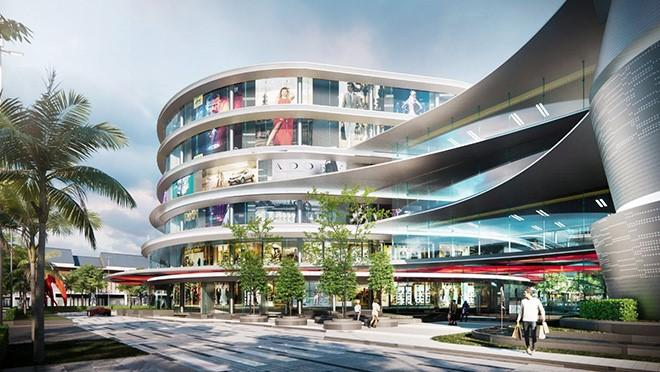 Trung tâm thương mại Lucky Mall tại Cát Tường Phú Hưng được kỳ vọng trở thành địa điểm vui chơi, giải trí và mua sắm hàng đầu tại Bình Phước. Ảnh phối cảnh: Cát Tường Group.