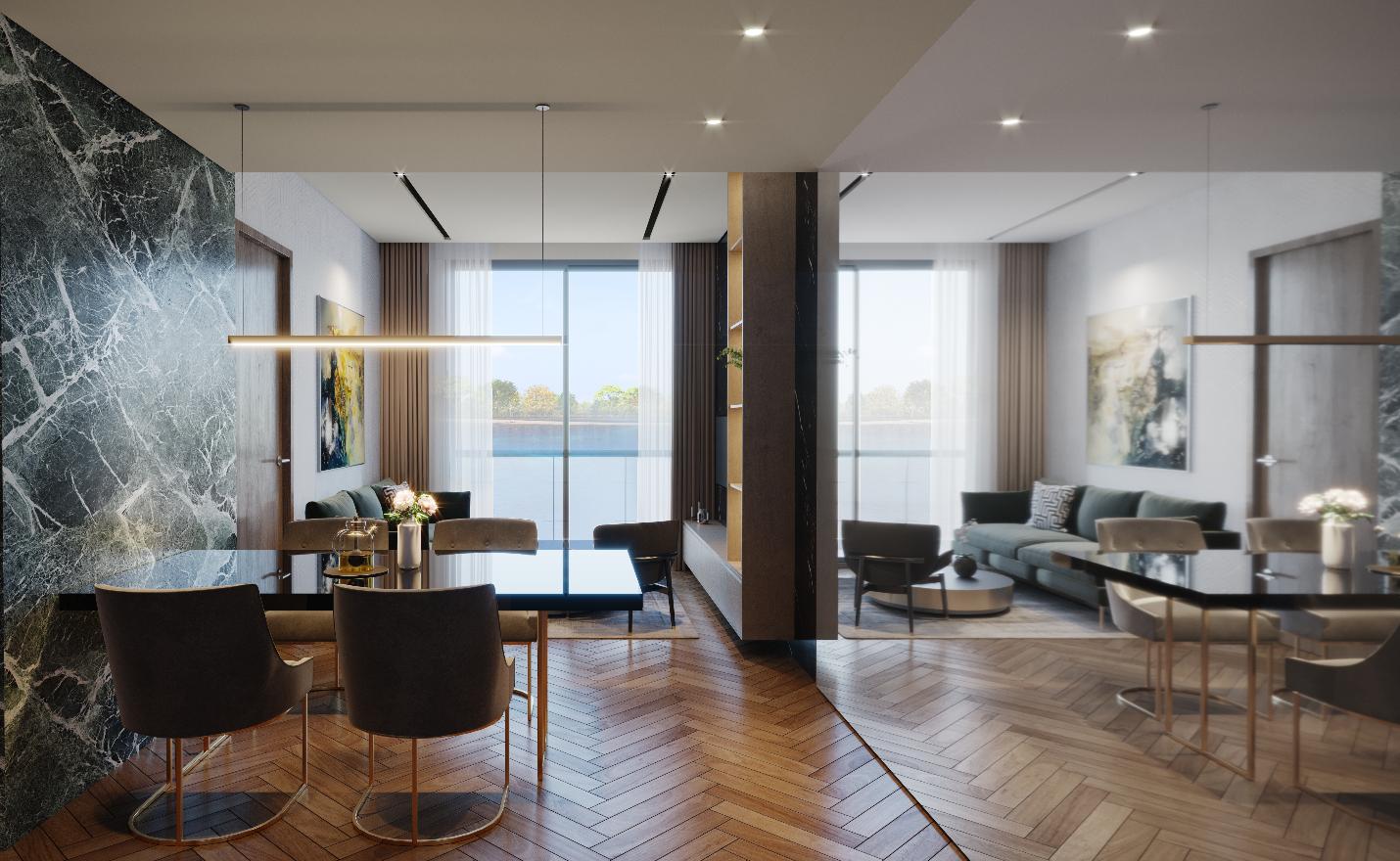 Nhà mẫu Masteri Waterfront (Gia Lâm, Hà Nội) - một trong ba dự án áp dụng giải pháp Home for Home. Ảnh: Masterise Homes.