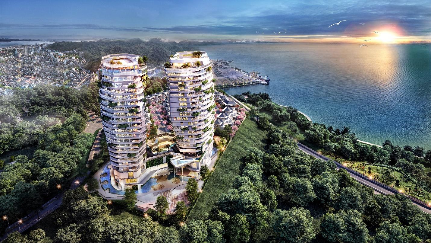 Một dự án biệt thự đỉnh đồi tại Hạ Long. Ảnh: MGallery Phoenix Legend