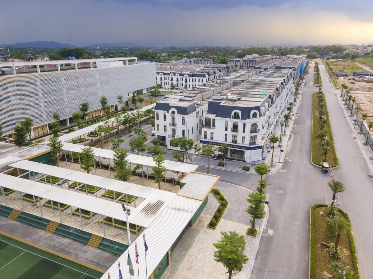 Dự án Crown Villas đã hoàn thiện xây dựng phân khu Iris.