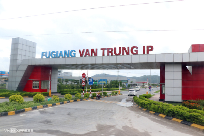 Khu công nghiệp Vân Trung, Bắc Giang. Ảnh: Võ Hải