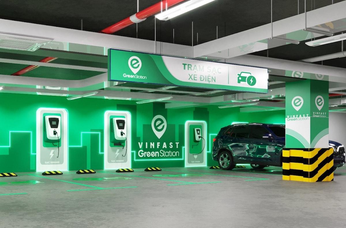 Mô hình trạm sạc dành cho ôtô điện của VinFast. Ảnh: VinFast