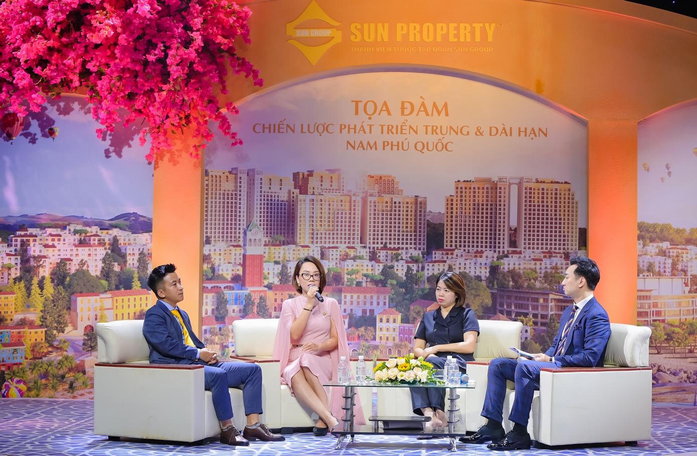 Các chuyên gia chia sẻ về chiến lược phát triển Nam Phú Quốc trung, dài hạn cùng sự xuất hiện của những dòng sản phẩm mới. Ảnh: Sun Group.