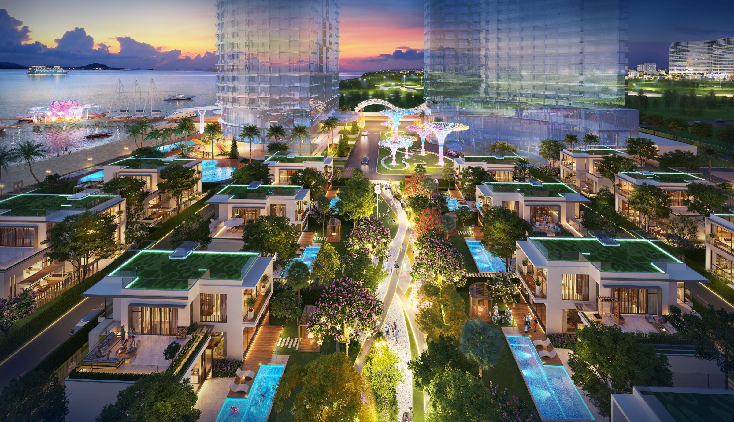 Xu hướng sống xanh đang góp phần định hình thị trường bất động sản thế giới. Ảnh phối cảnh dự án Aria Vũng Tàu.