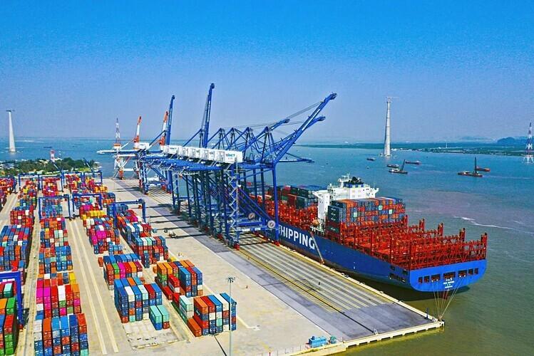 Cảng biển nước sâu Gành Hào - Bạc Liêu. Ảnh: VGP.