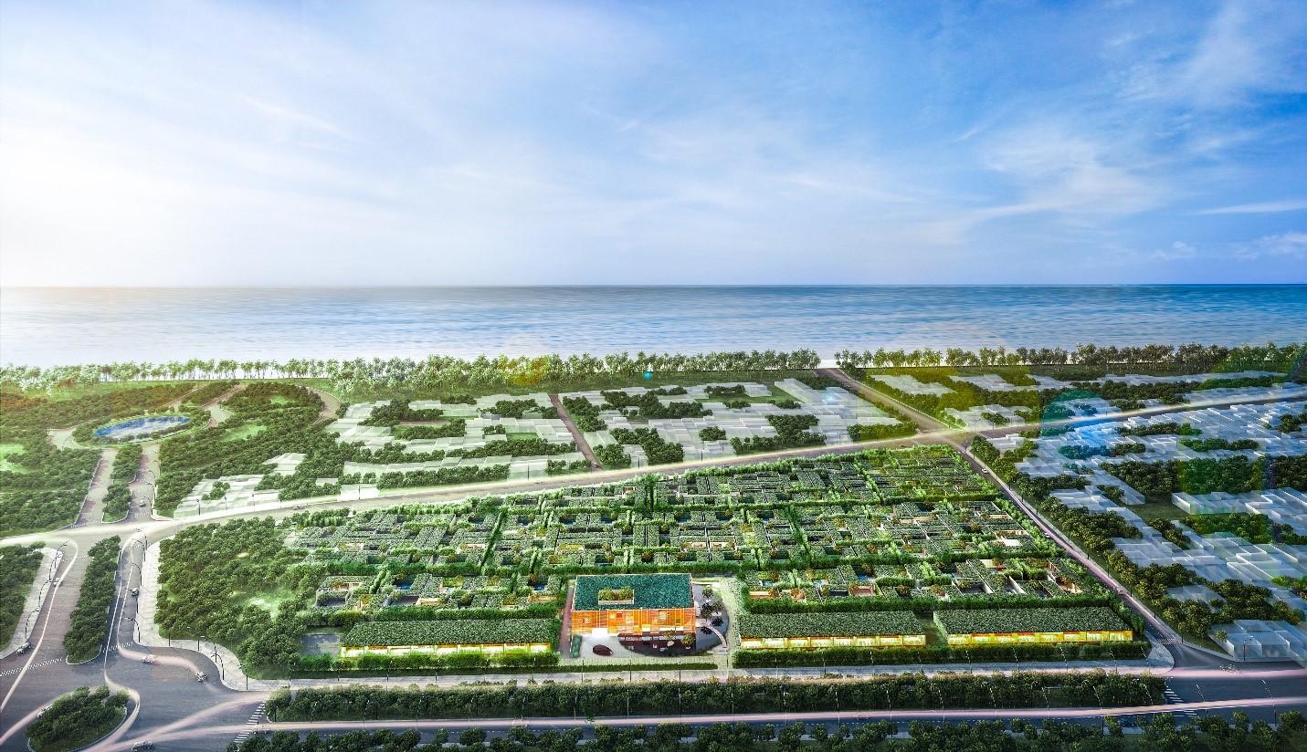 Wyndham Phú Quốc toạ lạc tại khu phức hợp Bãi Trường, cạnh quảng trường biển - nơi tập hợp đa dạng các tiện ích du lịch, giải trí đẳng cấp. Ảnh phối cảnh dự án.