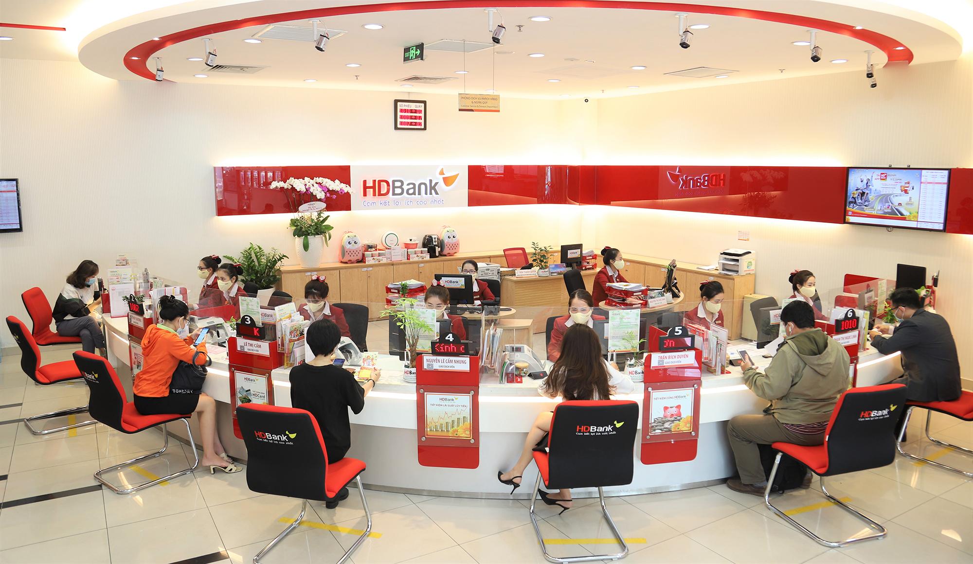 Một chi nhánh giao dịch của HDBank. Ảnh: HDBank