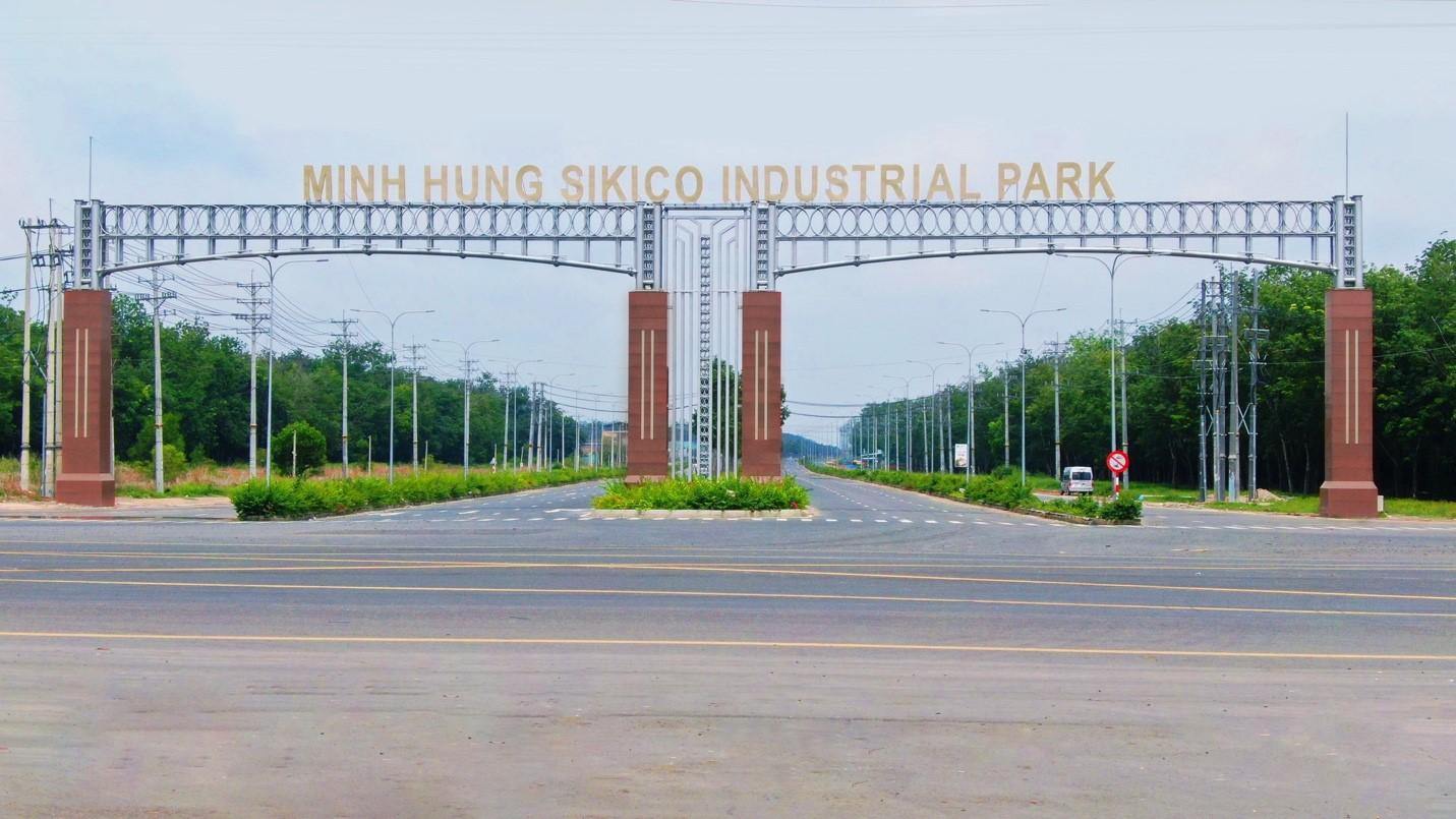 Khu công nghiệp Minh Hưng Sikico đang là điểm sáng thu hút đầu tư tại Bình Phước. Ảnh: Minh Hưng Sikico.