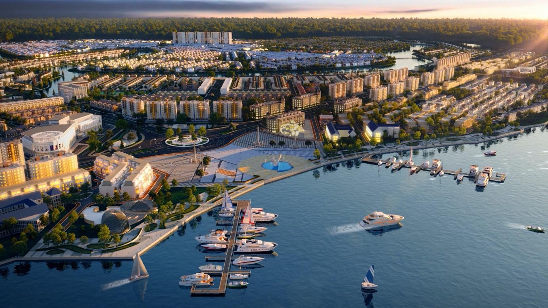Tổ hợp quảng trường, bến du thuyền tiêu chuẩn quốc tế phong cách Âu tại Aqua City.
