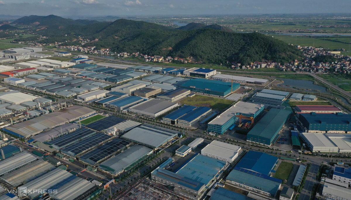 Các xưởng sản xuất tại khu công nghiệp Quang Châu. Ảnh: Ngọc Thành.