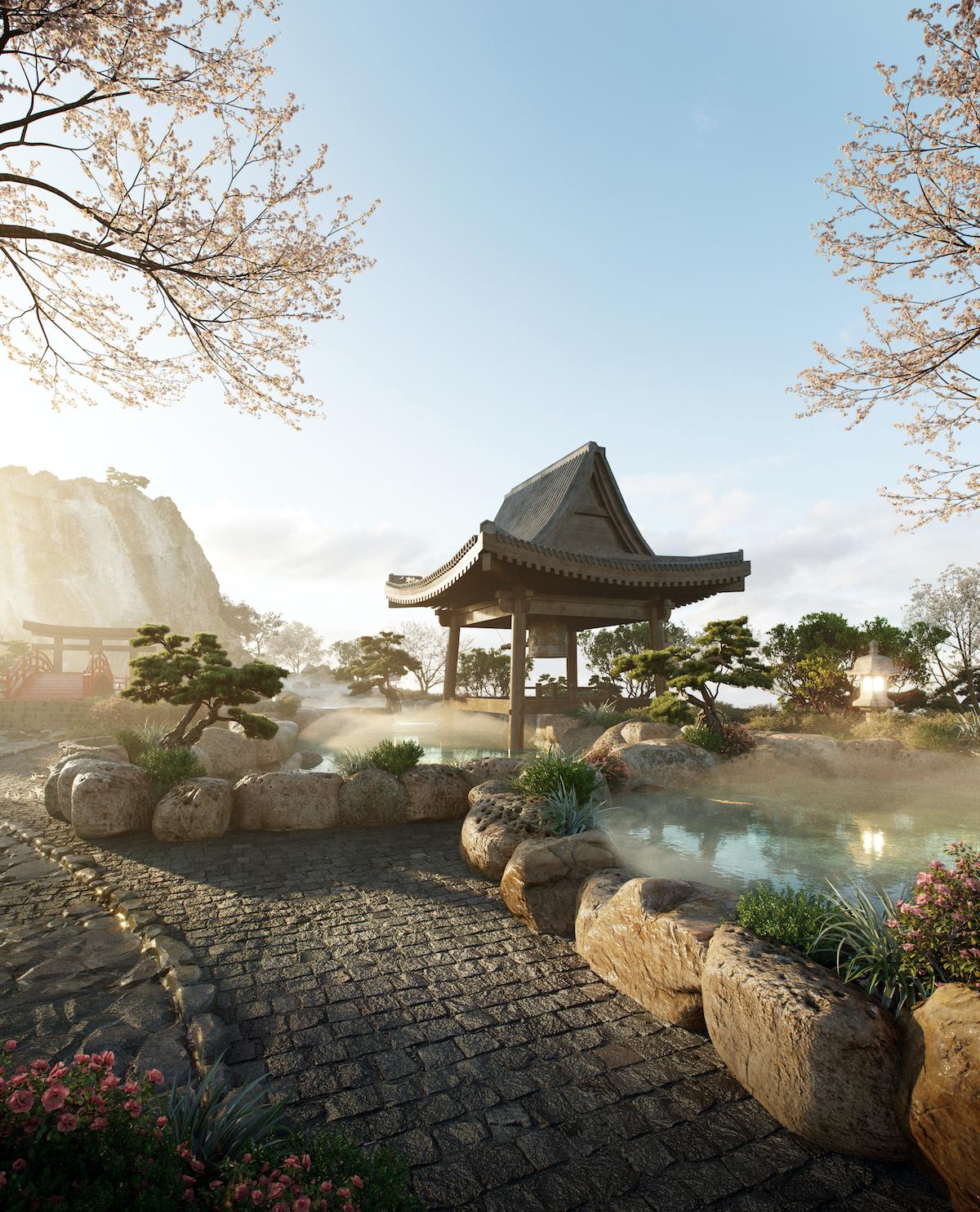 Swanlake Residences mang đến trải nghiệm khoáng nóng phong cách Nhật.