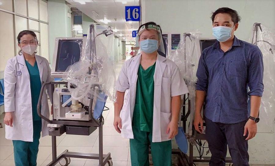 Mảy thở hiện đại được VPBank bàn giao cho bệnh viện tại TP HCM. Ảnh: VPBank